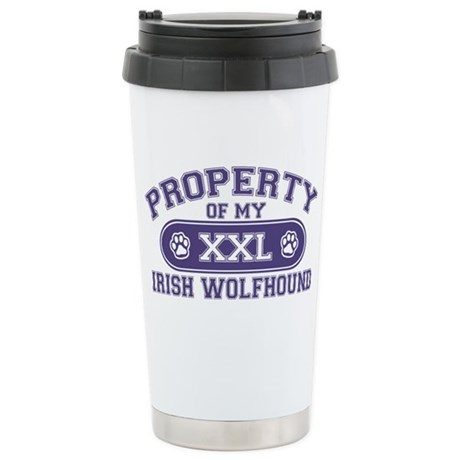 irishwolfhoundproperty Stainless Steel Travel Mug