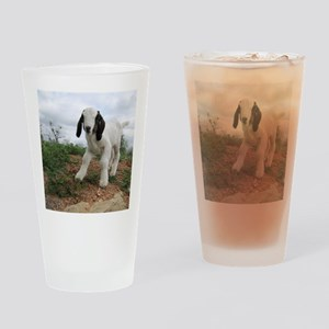 Kid Goat On Hill Drinking Glass