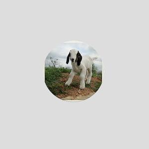 Kid Goat On Hill Mini Button