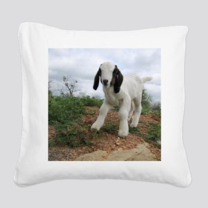 Kid Goat On Hill Square Canvas Pillow