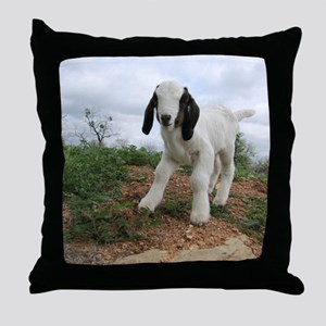 Kid Goat On Hill Throw Pillow