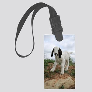 Kid Goat On Hill Large Luggage Tag