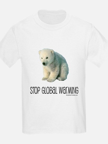 Stop Global Warming Kids T-Shirt