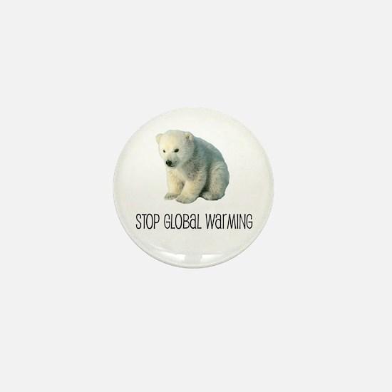 Stop Global Warming Mini Button