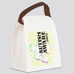 autismaware2012-rotated Canvas Lunch Bag