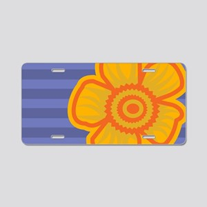 clutchYellowFlower Aluminum License Plate