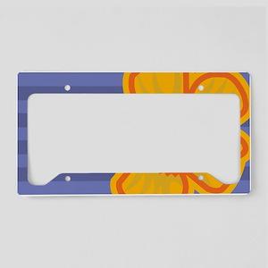 clutchYellowFlower License Plate Holder