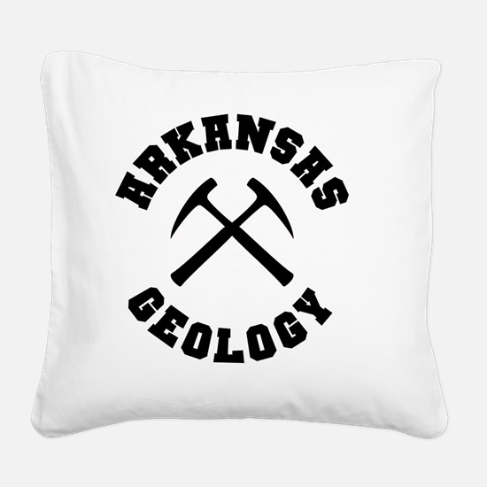 arkansasGeology Square Canvas Pillow