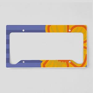 shoulderBagYellowFlower License Plate Holder
