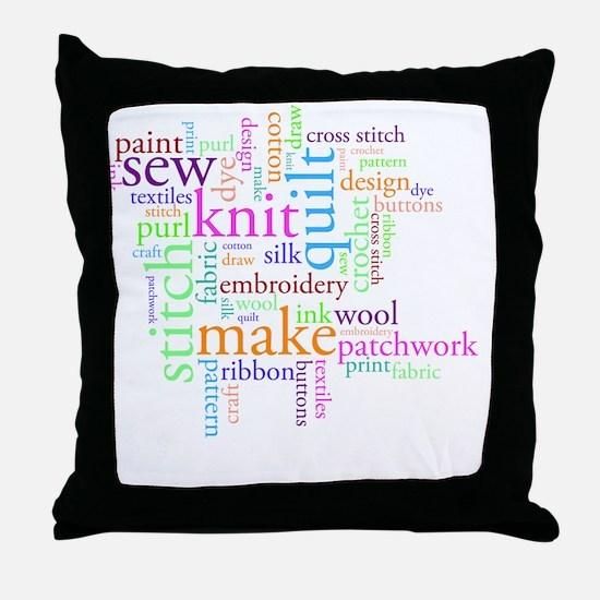 Word jumble craft Throw Pillow