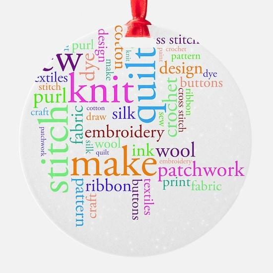 Word jumble craft Ornament