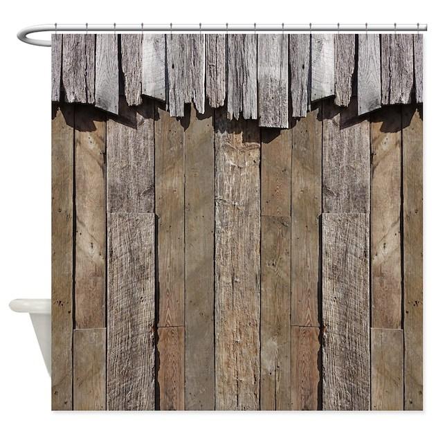 Rustic Old Barn Wood Shower Curtain By Rebeccakorpita