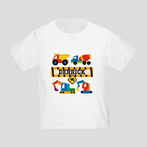 Custom Construction Vehicles Toddler T-Shirt