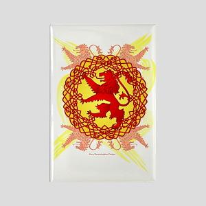 Celtic Art Scottish Rampant Lion Rectangle Magnet