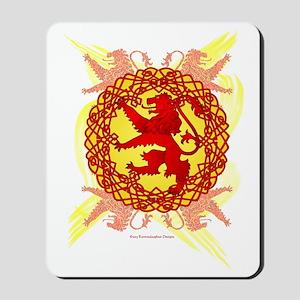 Celtic Art Scottish Rampant Lion Mousepad