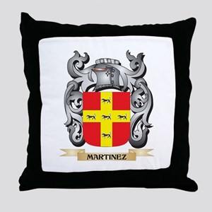 Martinez Coat of Arms - Family Crest Throw Pillow