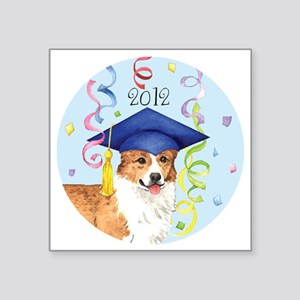 "pembroke grad-button Square Sticker 3"" x 3"""