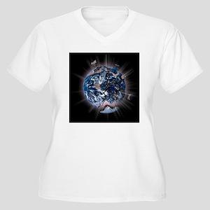 fracking3 Women's Plus Size V-Neck T-Shirt