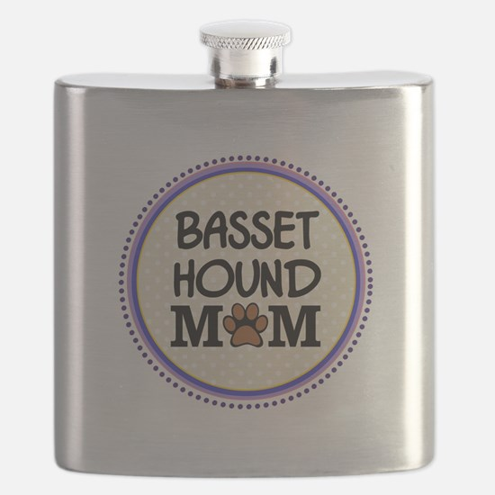 Basset Hound Dog Mom Flask