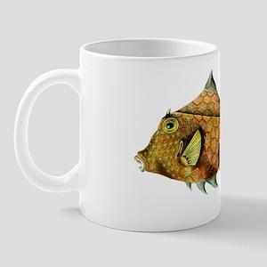Orange and Blue Fish - Cowfish - Tetros Mug