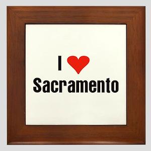 I Love Sacramento Framed Tile