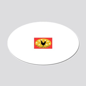 sticker-chick-1 20x12 Oval Wall Decal