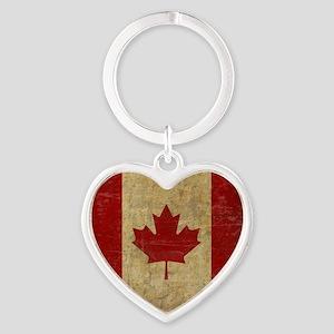 VintageCanadaSC1 Heart Keychain