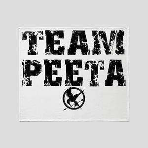 Team Peeta (distress) copy Throw Blanket