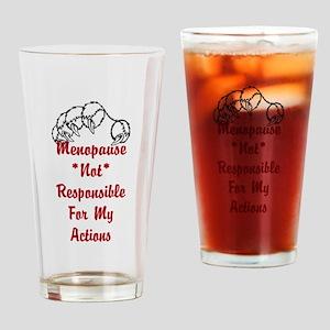 Menopause Joke Drinking Glass