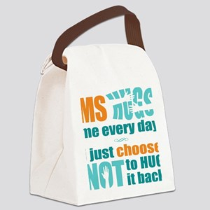 8x8 MS Hugs Canvas Lunch Bag