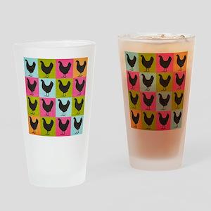 poster-chickenpopart Drinking Glass