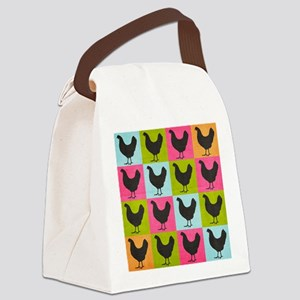 poster-chickenpopart Canvas Lunch Bag