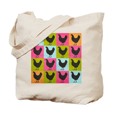 poster-chickenpopart Tote Bag