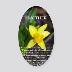 daffadill mother Oval Car Magnet