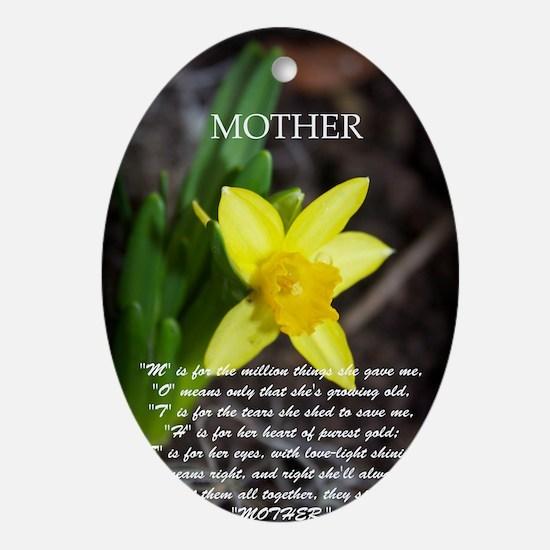 daffadill mother Oval Ornament