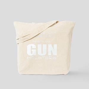 GUN HOLSTERS white Tote Bag