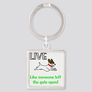 Live_Gate Square Keychain