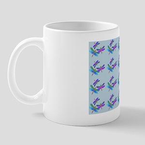 Pillow Iridescent Dragonflies Slate Mug