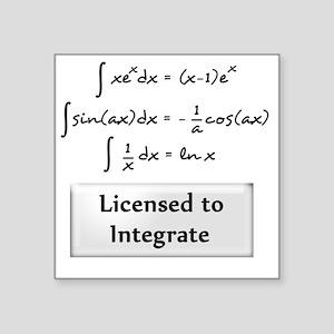 """licensed-to-integrate-6-bla Square Sticker 3"""" x 3"""""""