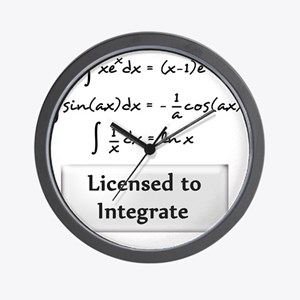licensed-to-integrate-6-blackLetters co Wall Clock