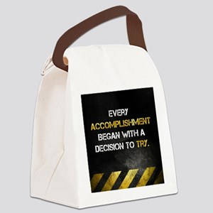 Decision to Try Canvas Lunch Bag