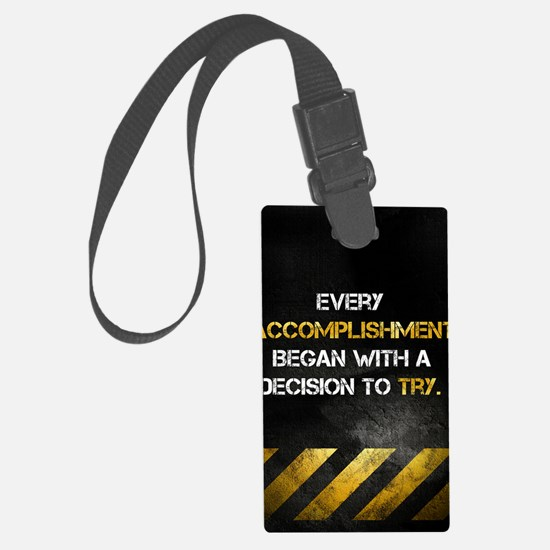Decision to Try Luggage Tag