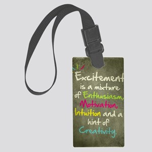 Excitement Large Luggage Tag