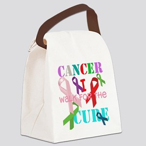 Cancer, I walk for a cure Canvas Lunch Bag