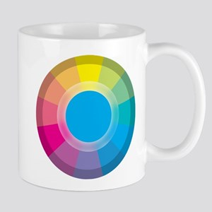 Colour Wheel cyan Mugs