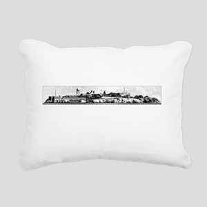 Alcatraz Dark Rectangular Canvas Pillow