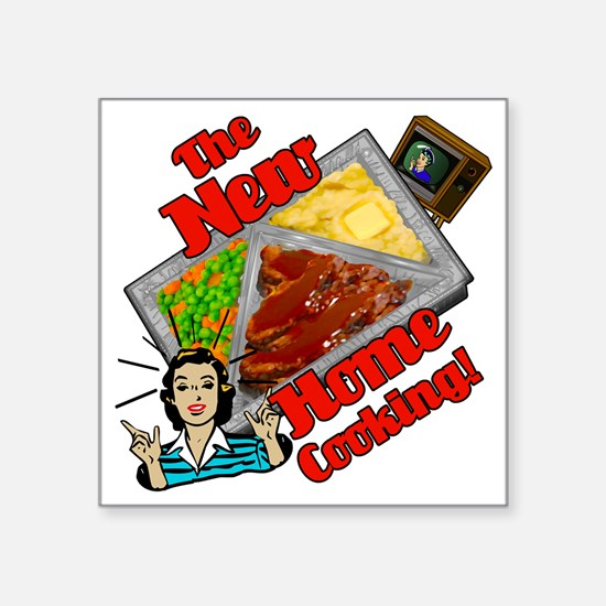 """the-new-home-cooking Square Sticker 3"""" x 3"""""""