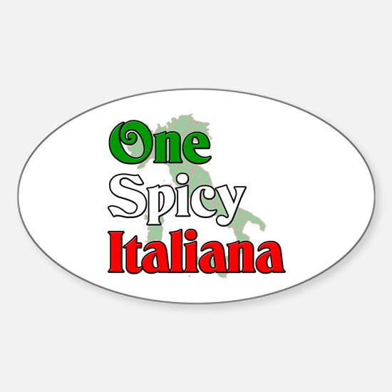 One Spicy Italiana Oval Decal