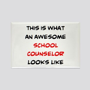 awesome school counselor Rectangle Magnet