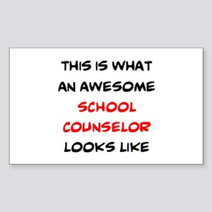 awesome school counselor Sticker (Rectangle)